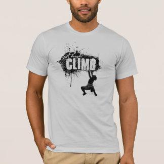 Rock Climbing Design with Male Climber T-Shirt