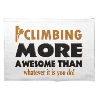 Rock climbing designs place mat