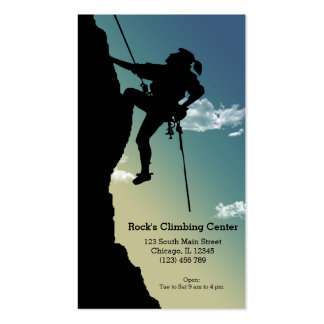 Rock Climbing Double-Sided Standard Business Cards (Pack Of 100)