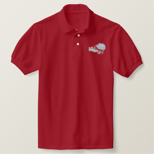 Rock Climbing Equipment Embroidered Polo Shirt