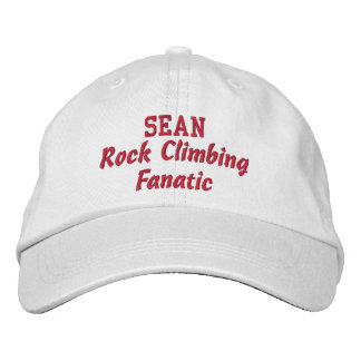 Rock Climbing Fanatic Custom Name Embroidered Baseball Cap