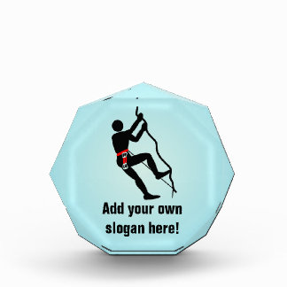 Rock Climbing Graphic with Personalized Slogan Award