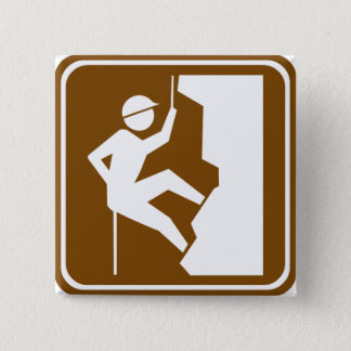 Rock Climbing Highway Sign Button