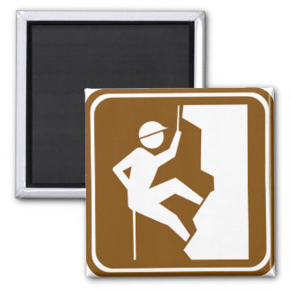 Rock Climbing Highway Sign Magnet