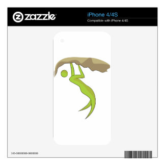 Rock Climbing Icon Decal For The iPhone 4S