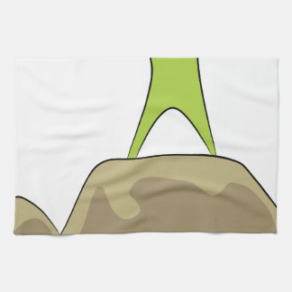 Rock Climbing Icon Kitchen Towel