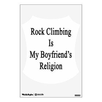 Rock Climbing Is My Boyfriend's Religion Room Decals