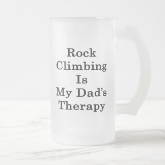 Rock Climbing Is My Dad's Therapy Coffee Mugs