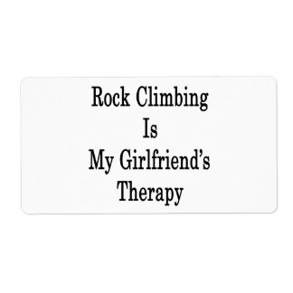 Rock Climbing Is My Girlfriend's Therapy Custom Shipping Label
