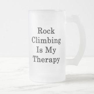 Rock Climbing Is My Therapy Coffee Mugs