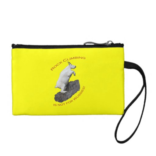 Rock Climbing is not for Wussies! Coin Purse