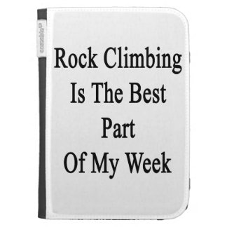 Rock Climbing Is The Best Part Of My Week Kindle Case