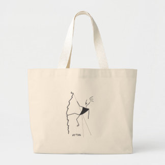 rock climbing my thing large tote bag