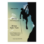 Rock Climbing Party 5x7 Paper Invitation Card