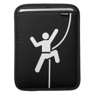 Rock Climbing Pictogram iPad Sleeve