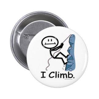 Rock Climbing Pinback Button