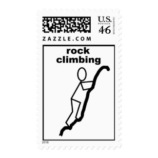 rock climbing postage stamps