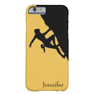 Rock Climbing Silhouette Barely There iPhone 6 Case