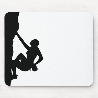Rock Climbing Silhouette Mouse Pad