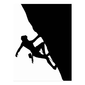 Rock Climbing Silhouette Postcard