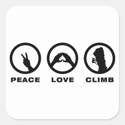 Rock Climbing Square Sticker
