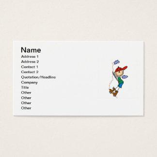 Rock Climbing Stick Figure Business Card