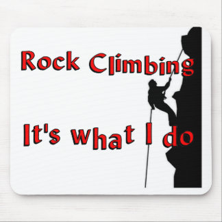 Rock Climbing T-shirts and Gifts. Mouse Pad