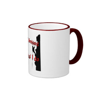 Rock Climbing T-shirts and Gifts. Ringer Coffee Mug