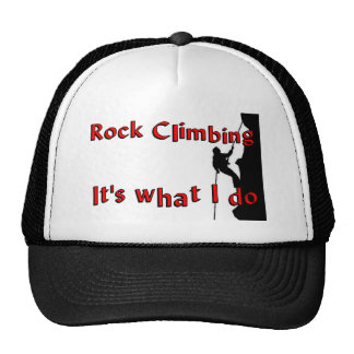 Rock Climbing T-shirts and Gifts. Trucker Hat