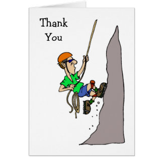 Rock Climbing Thank You Cards