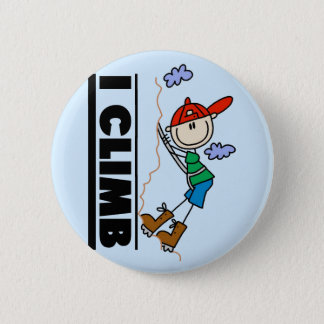 Rock Climbing Tshirts and Gifts Button