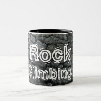 Rock Climbing! Two-Tone Coffee Mug
