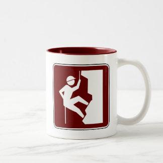 Rock Climbing Two-Tone Coffee Mug