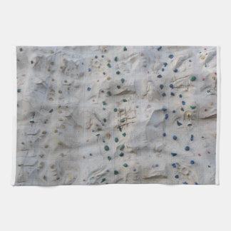 Rock Climbing Wall Hand Towel