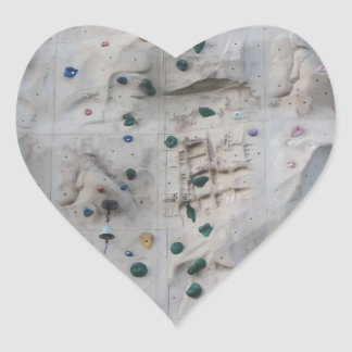 Rock Climbing Wall Heart Sticker