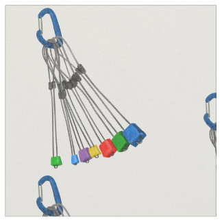 Rock Climbing Wires and Carabiner Fabric