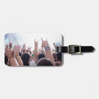 Rock Concert Audience Bag Tag