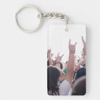 Rock Concert Audience Keychain