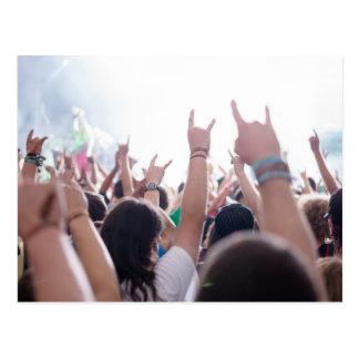 Rock Concert Audience Postcard
