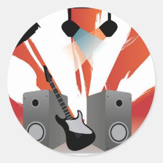 Rock Concert Round Sticker