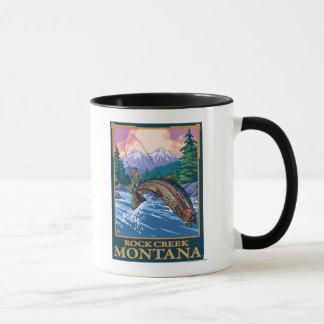Rock Creek, escena de la pesca de MontanaFly Taza