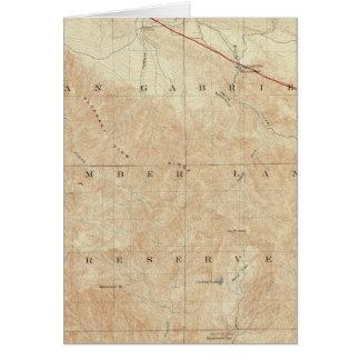 Rock Creek quadrangle showing San Andreas Rift Card