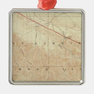 Rock Creek quadrangle showing San Andreas Rift Metal Ornament