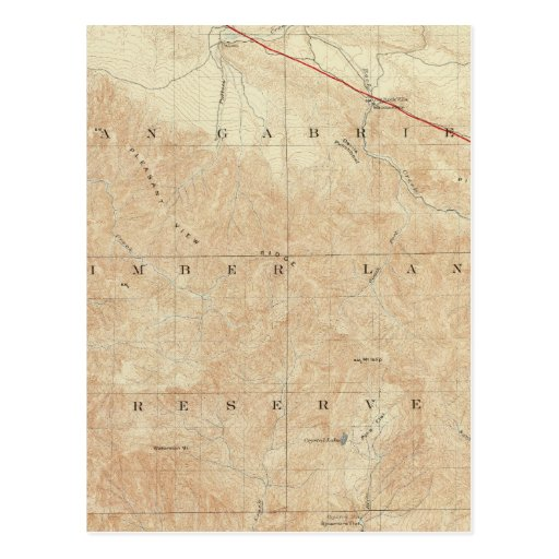 Rock Creek quadrangle showing San Andreas Rift Postcard