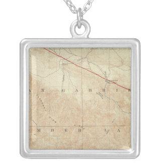 Rock Creek quadrangle showing San Andreas Rift Square Pendant Necklace