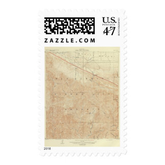Rock Creek quadrangle showing San Andreas Rift Stamp