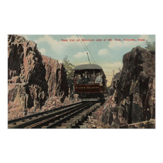Rock Cut on Mt. Tom Poster