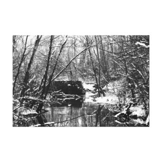 Rock Dam in the Winter Gallery Wrapped Canvas