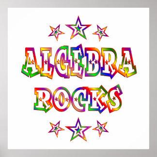 Rock de la álgebra de las estrellas posters