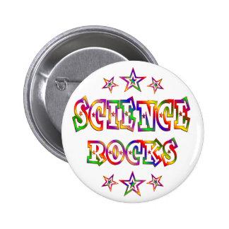 Rock de la ciencia de las estrellas pin redondo 5 cm